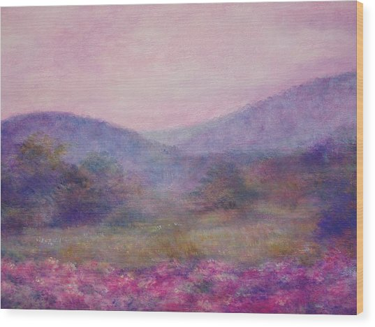 Impressionistic Foggy Summer Morning  Wood Print