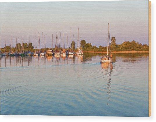 Impressions Of Summer - Sailing Home At Sundown Wood Print