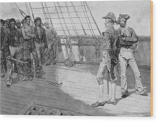 Impressment Of American Seamen, Illustration From Our Countrys Cradle By Thomas Wentworth Wood Print