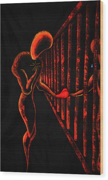 Imprisoned Love Wood Print