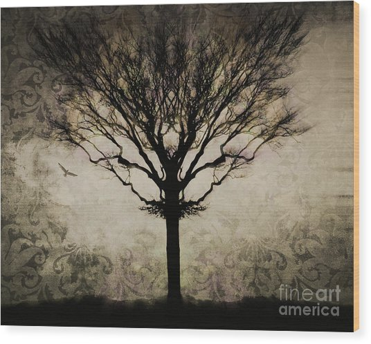 In A Symmetrical World Wood Print