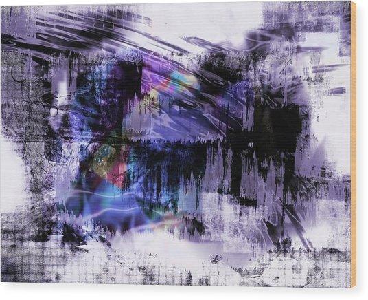 In A Violet Rhythm Wood Print