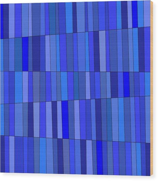In Blue Please Wood Print