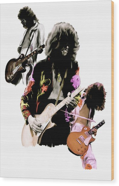 In Flight Iv Jimmy Page  Wood Print