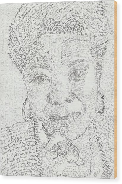 In Her Own Words Maya Angelou Wood Print