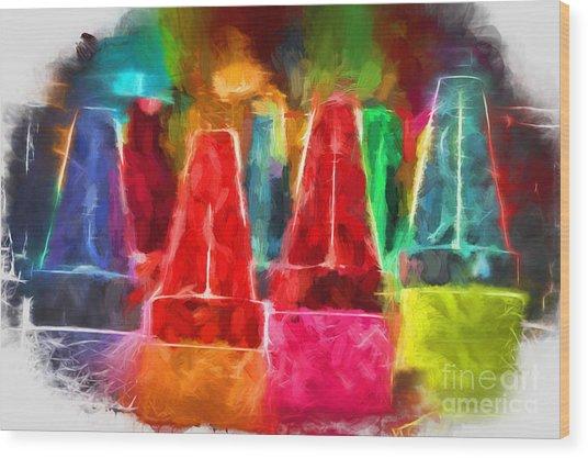 In Honor Of Crayons Wood Print
