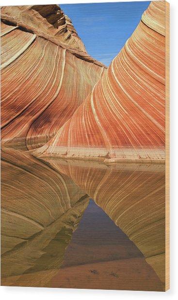In Line Wood Print by Nanouk El Gamal
