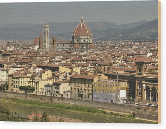 In Love With Firenze - 2 Wood Print