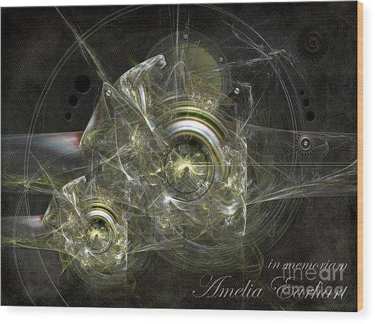 In Memoriam Amelia Earhart Wood Print