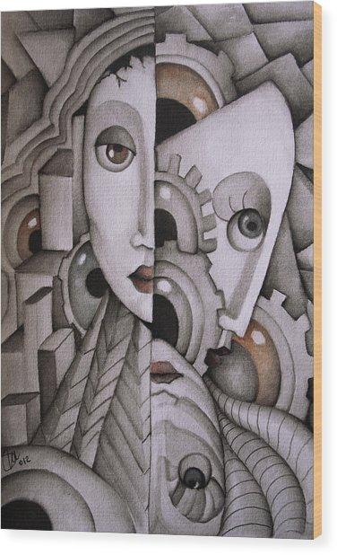 In My Mind Wood Print by Simona  Mereu