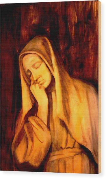 In Prayer Wood Print