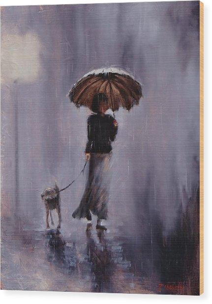 In Rain Or Shine Wood Print