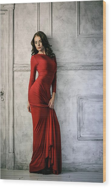 In Red Wood Print