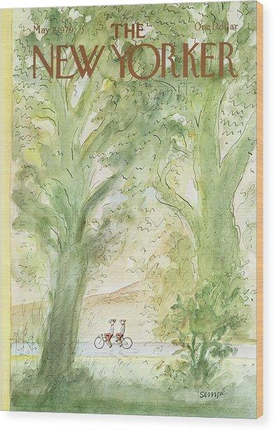 In Tandem Wood Print