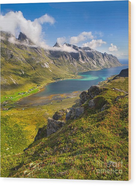 In The Arctic Circle Wood Print