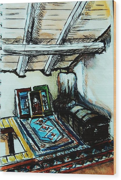 In The Attic Wood Print by Anne Parker