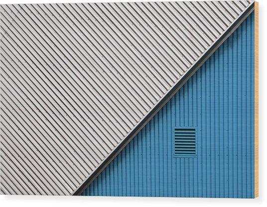 In The Blue Corner Wood Print