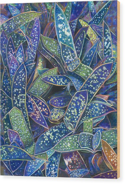 In The Conservatory - 6th Center - Indigo Wood Print