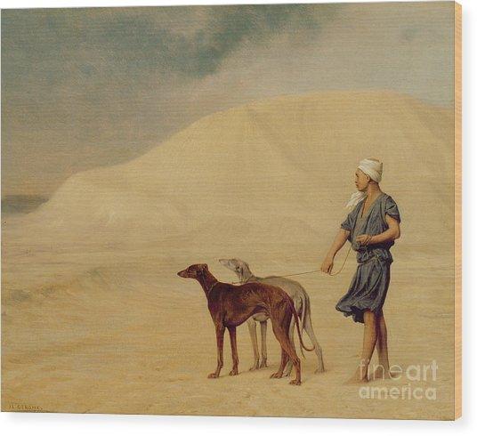 In The Desert Wood Print