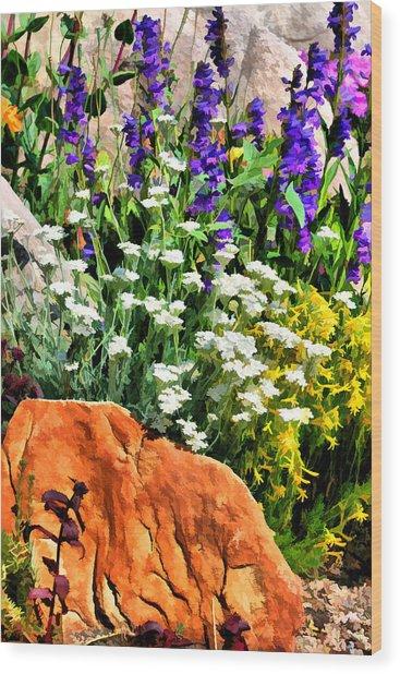 In The Garden Wood Print by Brian Davis