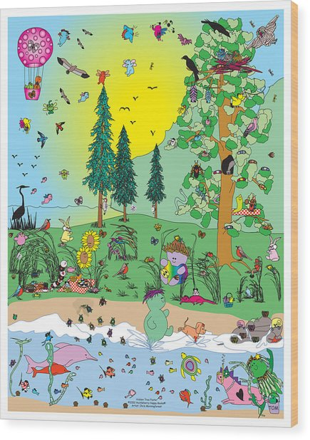 In The Hidden Tree Wood Print by Chris Morningforest