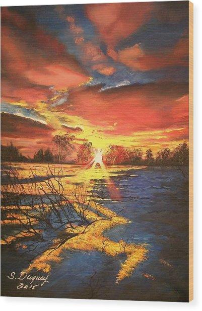 In The Still Of Dawn-2 Wood Print