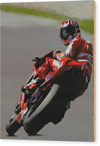 In Victory  Casey Stoner Wood Print
