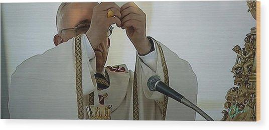Inauguration Pope Francis Vatican  Rom 19 February 2013  Wood Print