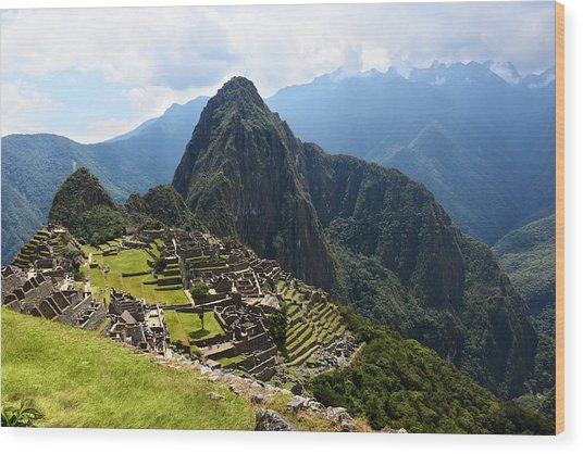 Inca City Machu Picchu Wood Print