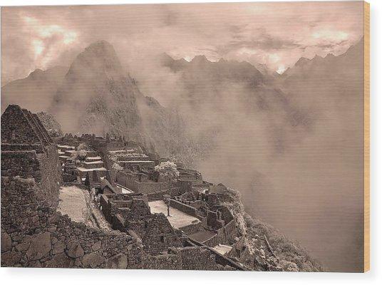90262 Inca Ruins Machu Picchu Peru Wood Print