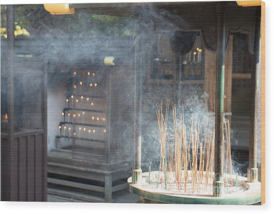 Incense Candles And Prayer