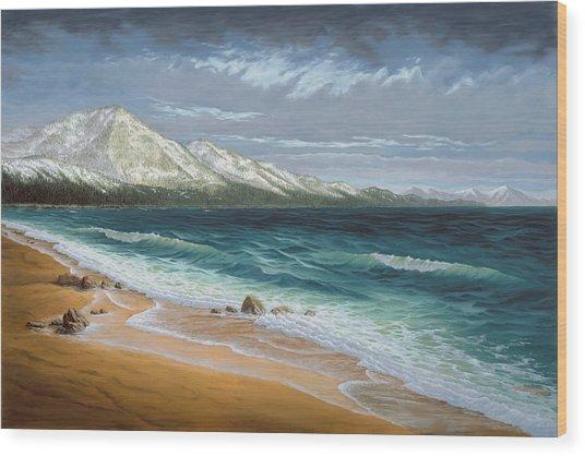 Incline Beach - North Shore - Lake Tahoe Wood Print