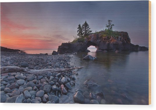 Hollow Rocks, North Shore Mn Wood Print