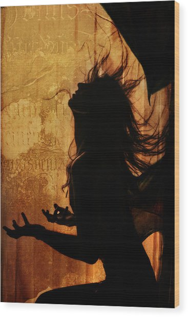 Incubus Wood Print by Cambion Art