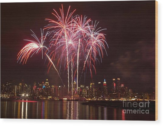 Independence Day Wood Print by Kim Quintano