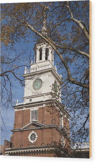 Wood Print featuring the photograph Independence Hall by Jennifer Ancker