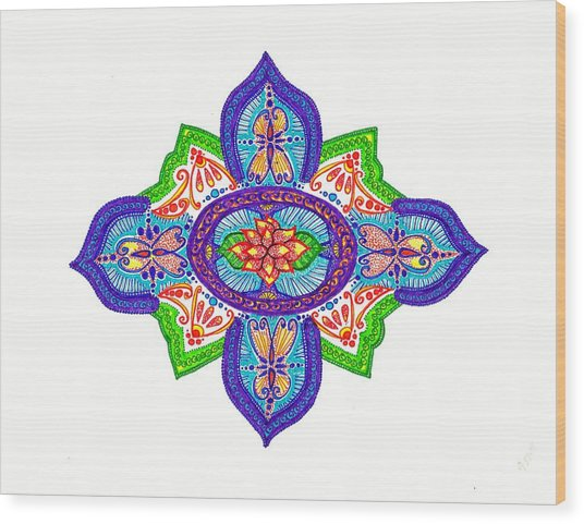India Silk Wood Print by Marie Parker