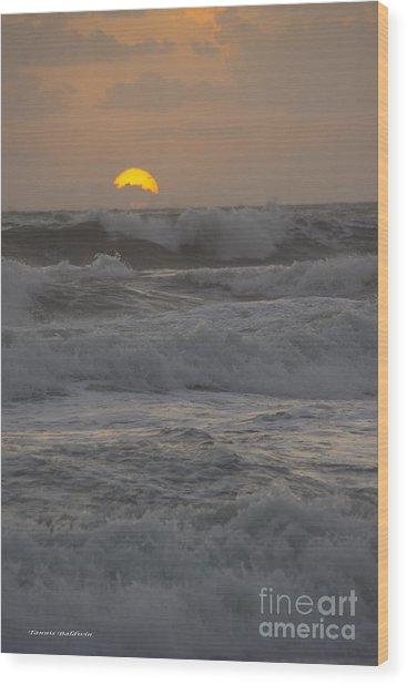 Indialantic Sunrise Wood Print