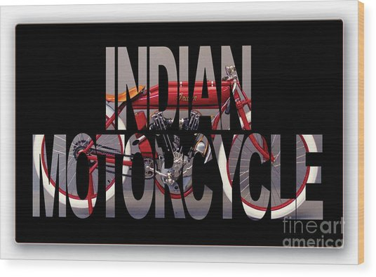 Indian Board Track Racer Motorcycle Wood Print