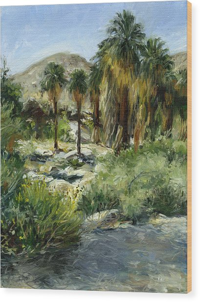 Indian Canyon Palms Wood Print by Stacy Vosberg