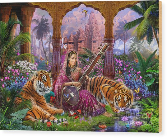 Indian Harmony Wood Print