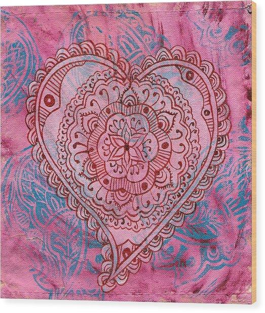 Indian Heart Wood Print