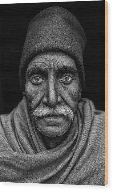 Indian Man Wood Print