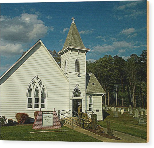 Indian Mission United Methodist Church Harbeson Delaware Wood Print