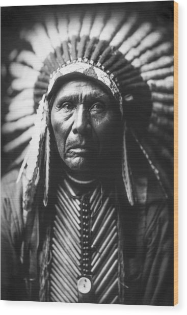 Indian Of North America Circa 1905 Wood Print