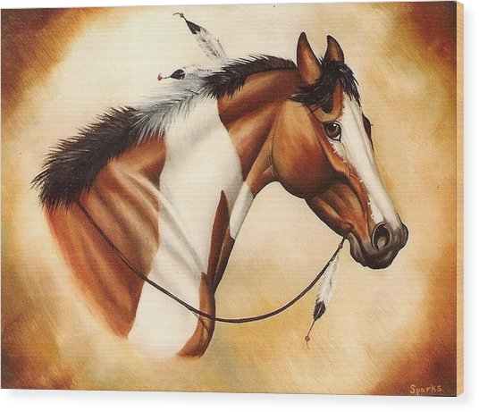Indian Pony Wood Print by Kay Sparks