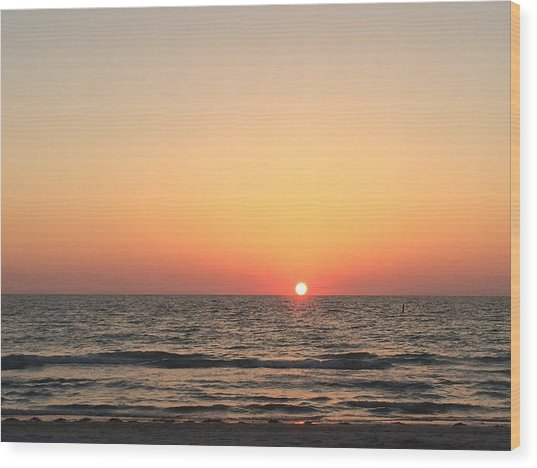 Indian Rocks Sunset 1 Wood Print