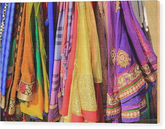 Indian Sarees Wood Print