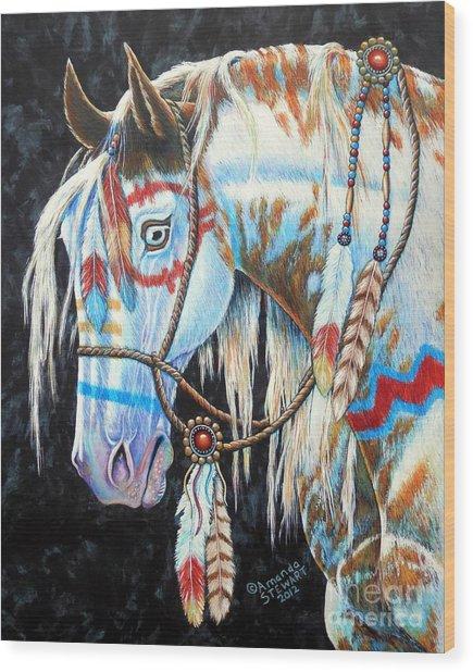 Indian War Pony #2 Wood Print by Amanda Hukill