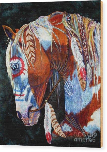 Indian War Pony Wood Print